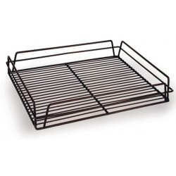 Glass Basket 435 x 355 x 75mm PVC Rectangular Black