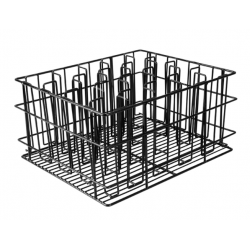 Glass Basket 20 Compartment PVC Coated Black