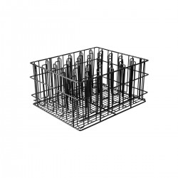 Glass Basket 30 Compartment PVC Coated Black