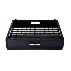 Glass Basket 435 x 355mm ABS Plastic Rectangular Black Mantova