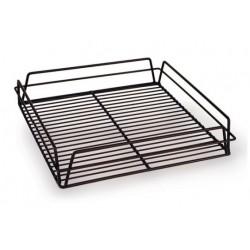 Glass Basket 355 x 355 x 75mm PVC Square Black (10)