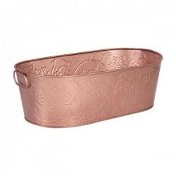Moda Brooklyn 530 x 290 x 170mm Beverage Tub Copper Satin w/Design