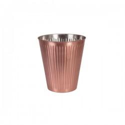 Moda Brooklyn Wine Bucket Ribbed Copper Finish