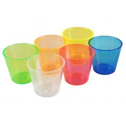 Wobbly Boot 30ml Polycarb Shot Cups Assorted Colours (250)