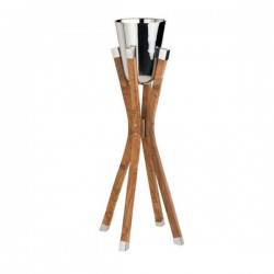 Chef Inox Wine Bucket with Wooden Stand
