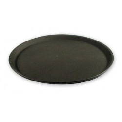 "Non Slip 350mm / 14"" Serving Tray Plastic Black"