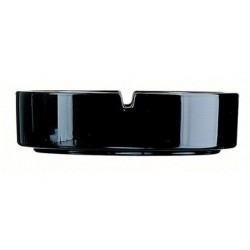 Arcoroc 107mm Empilable Stackable Black Glass Ashtray (24)