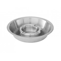 Ashtray 135mm Stainless Steel Double Well (10)