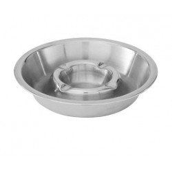 Ashtray 160mm Stainless Steel Double Well (10)