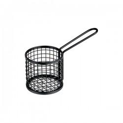 Service Basket 178 x 84 x 80mm Round Black Moda Soho