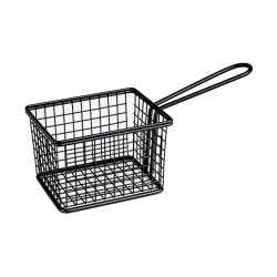 Service Basket 224 x 80mm Rectangular Black Moda Soho