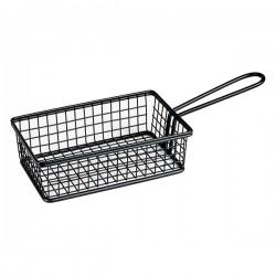 Service Basket 262 x 50mm Rectangular Black Moda Soho