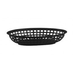 Bread Basket Oval 240 x 150 x 50mm Black Polyprop (36)