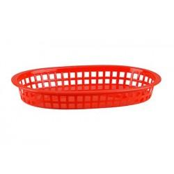 Bread Basket Rectangular 270 x 180 x 40mm Red Polyprop (36)
