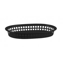Bread Basket Rectangular 270 x 180 x 40mm Black Polyprop (36)