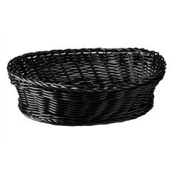 Display Basket Oval 240 x 180 x 70mm Black Polyprop
