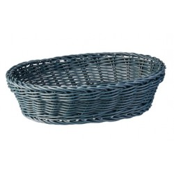 Display Basket Oval 240 x 180 x 70mm Grey Polyprop