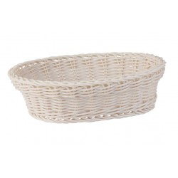 Display Basket Oval 240 x 180 x 70mm Taupe Polyprop
