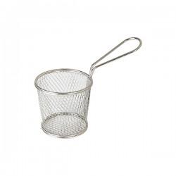 Service Basket 90 x 90mm Stainless Steel Round Moda Brooklyn (6)