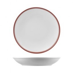 Nano Cru 260mm / 1280ml Round Coupe Bowl Red (12)