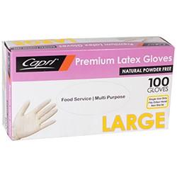 Capri Latex Glove Powder Free Large (100)