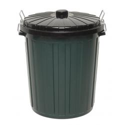 Edco 73lt Green Garbage Bin with Lid