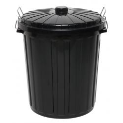 Edco 73lt Black Garbage Bin with Lid (6)