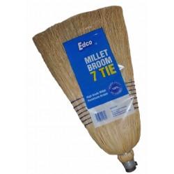 Edco 7 Tie Millet Broom