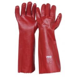 Chemical Glove 45cm RED PVC