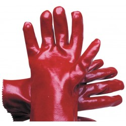 Chemical Glove 270mm RED PVC