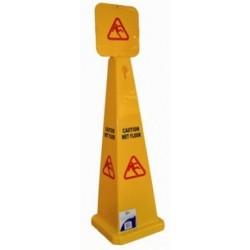 "Edco Large Pyramid ""Caution Wet Floor Sign"""