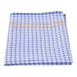 Tea Towel Blue 450 x 700mm Small Waffle Check (12)