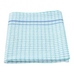 Tea Towel Green 450 x 700mm Small Waffle Check (12)
