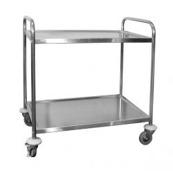 Trolley 810 x 455 x 855mm 2 Shelf Extra Heavy Duty Stainless Steel