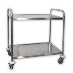 Trolley 855 x 535 x 940mm 2 Shelf Extra Heavy Duty Stainless Steel