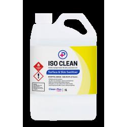 Iso Clean Surface and Skin Sanitiser 5lt with 500ml Spray Bottle RTU
