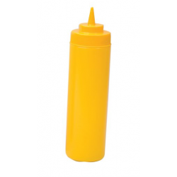 Squeeze Bottle 720ml Wide Mouth Yellow
