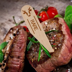 One Tree Steak Marker Paddle Rare (200)