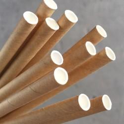 Paper Straw Cocktail 135mm Kraft (250)