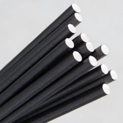 Paper Straw Regular 200mm Black (250)