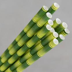 Paper Straw Jumbo 235mm Bamboo Print (2500)