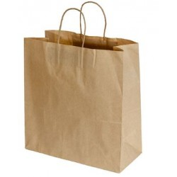 Paper Carry Bag Kraft with Twist Handle 340X320X145mm (250)