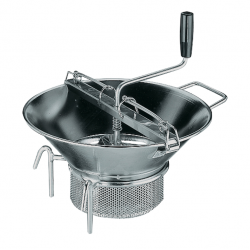 Food Mill 370mm Heavy Duty Stainless Steel With 3 Blades (1.5/2.5/4mm) Paderno