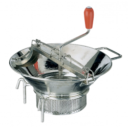 Food Mill 370mm Heavy Duty Tinned With 3 Blades (1.5/2.5/4mm) Paderno