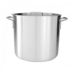 Stock Pot 90.0lt w/Cover 450 x 510mm Aluminium