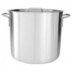 Stock Pot 140.0lt w/Cover 520 x 580mm Aluminium