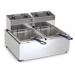 Roband 2 x 5lt Countertop Double Pan Fryer