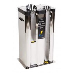 Dual Chute Wet Umbrella Bagging Machine Mirror Stainless Steel
