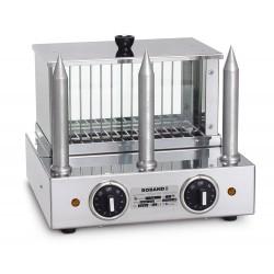 Roband Hot Dog Warmer w/ 3 Teflon Bun Warming Spikes
