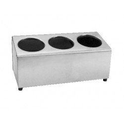 Cutlery Holder 350 x 170 x 180mm Stainless Steel 3 in a Row